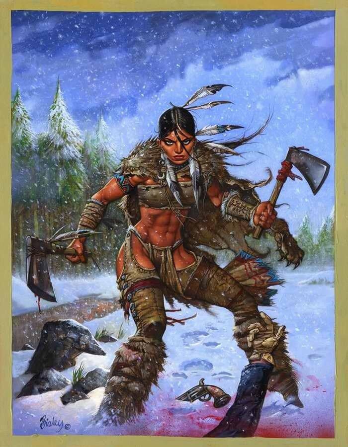Покахонтас (прозвище индейской принцессы Матоака) - Simon Bisley