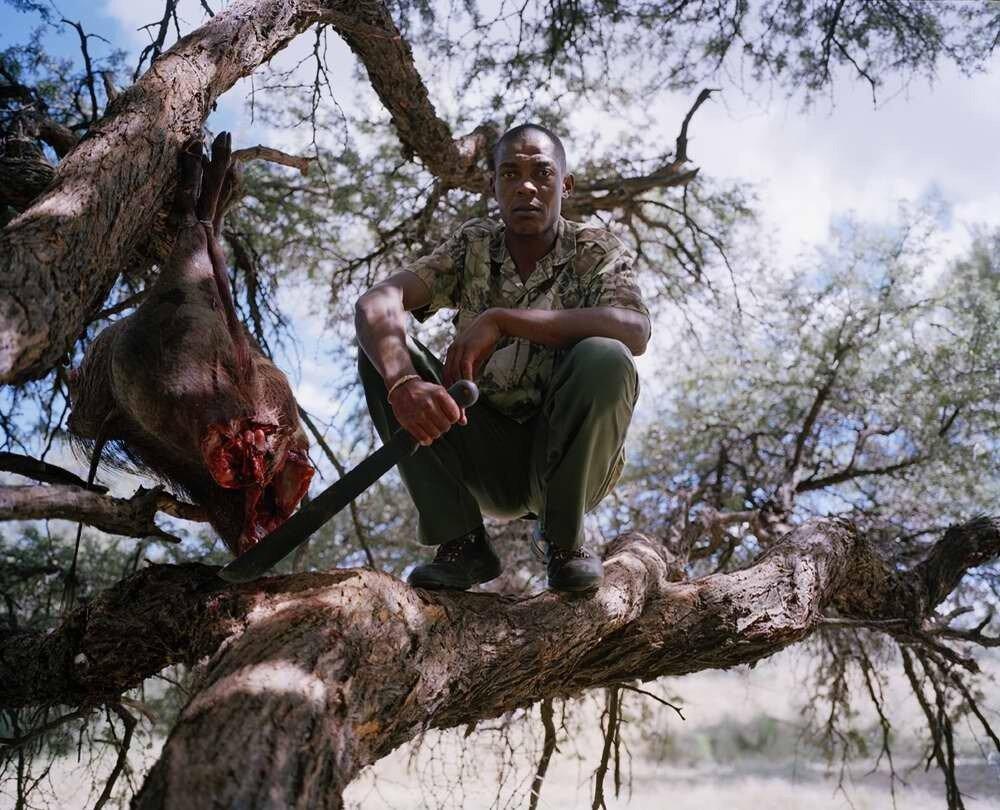Подготовка к охоте на леопарда, Намибия