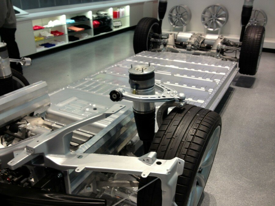 двигатель автомобиля тесла модель с схема