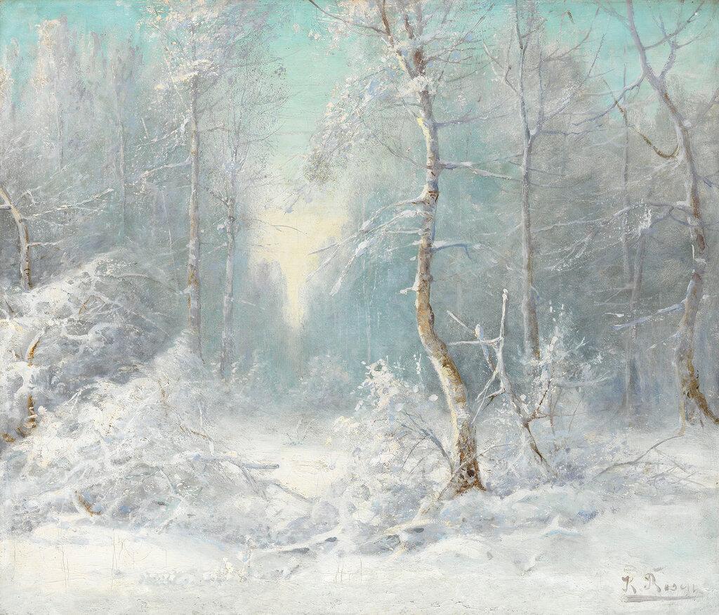 ROSEN KARL. Зимний пейзаж