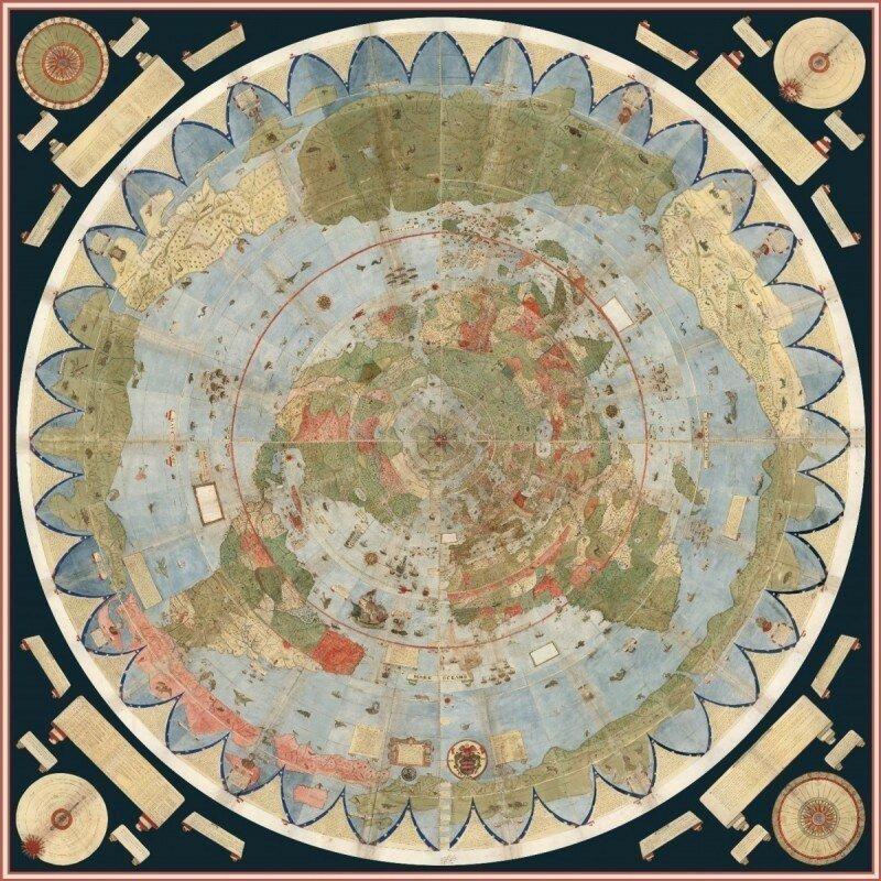 Странная карта, возрастом 430 лет
