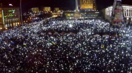 Кадры Майдана с высоты летающего дрона признаны лучшими в мире!