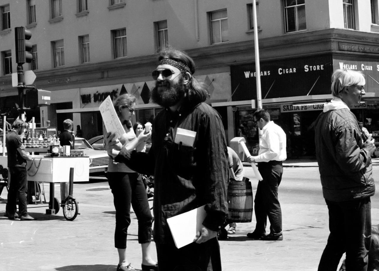 1967. Уличная жизнь в Беркли, Калифорния