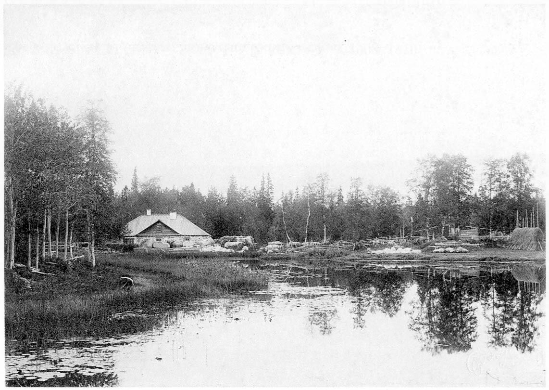 Соловецкий монастырь. Савватиево. Баня на ручье. 1908-1910
