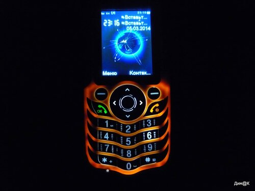 Texet TM-510R (подсветка клавиатуры)