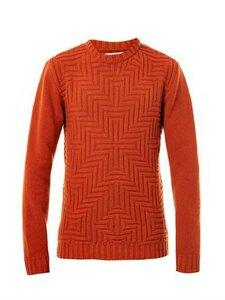 Крестоносец - свитер спицами от Oliver Spenser