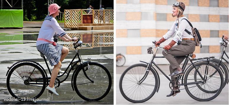 два образа на Исторических велопробегах