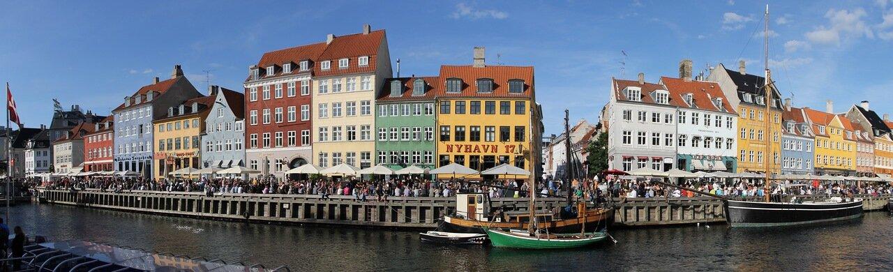 Копенгаген, Новая гавань. Copenhagen, Nyhavn, New Harbour, panorama