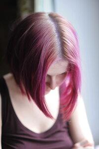 Тоника аметист на осветленных волосах