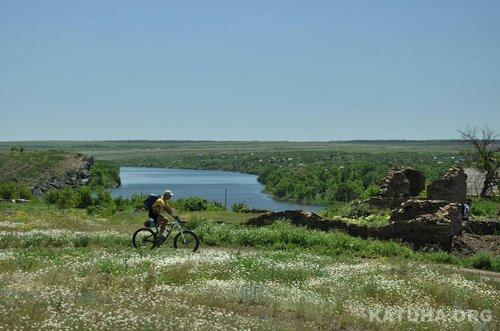 Велоказведка вдоль р.Быстрая и Сев. Донец