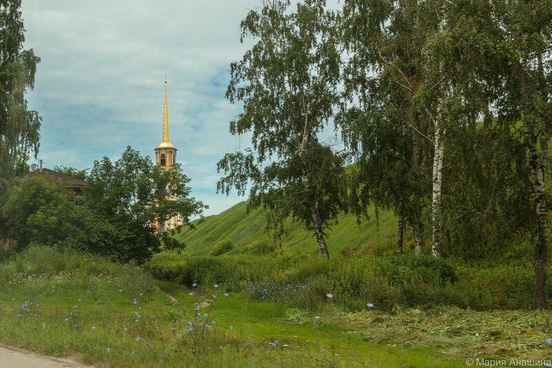 Кремлевский вал и Соборная колокольня, Рязань