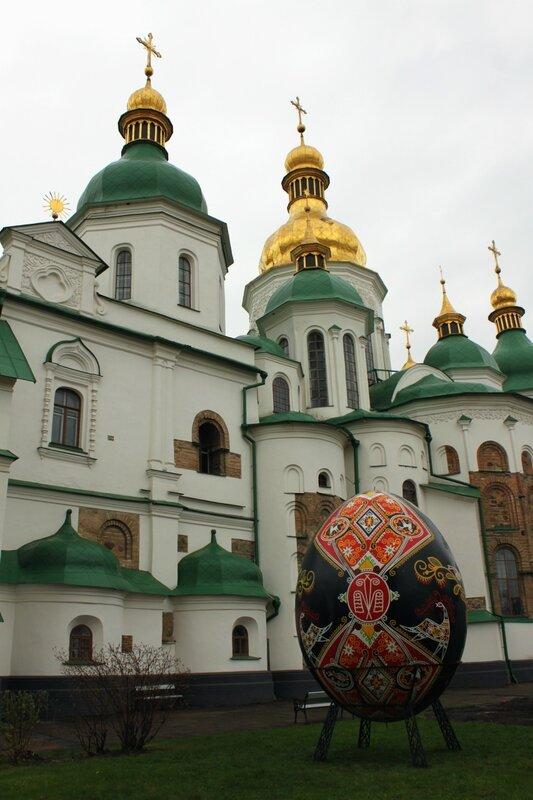 Пасхальное яйцо в Софии Киевской