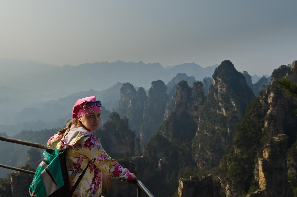Фотография 9. Над пропастью в горах Чжанцзяцзе. Как мы поехали в Китай самостоятельно