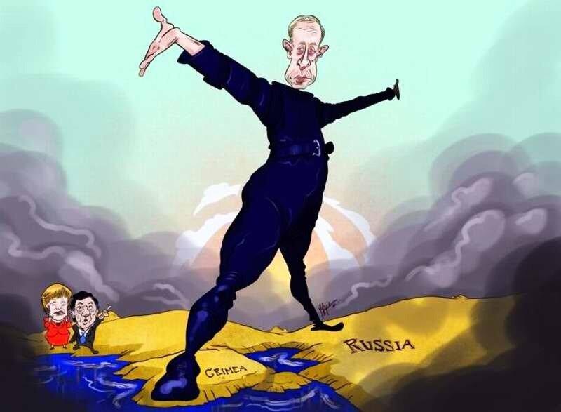 Путин шагает по Украине в сторону Крыма (Mark Scicluna)