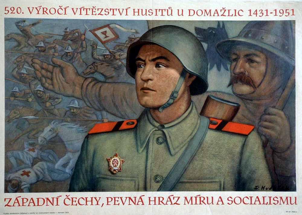 520-я годовщина победы гуситов в Домажлице. Западная Богемия - надежная стена для защиты мира и социализма