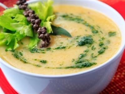 Суп из тыквы и цветной капусты