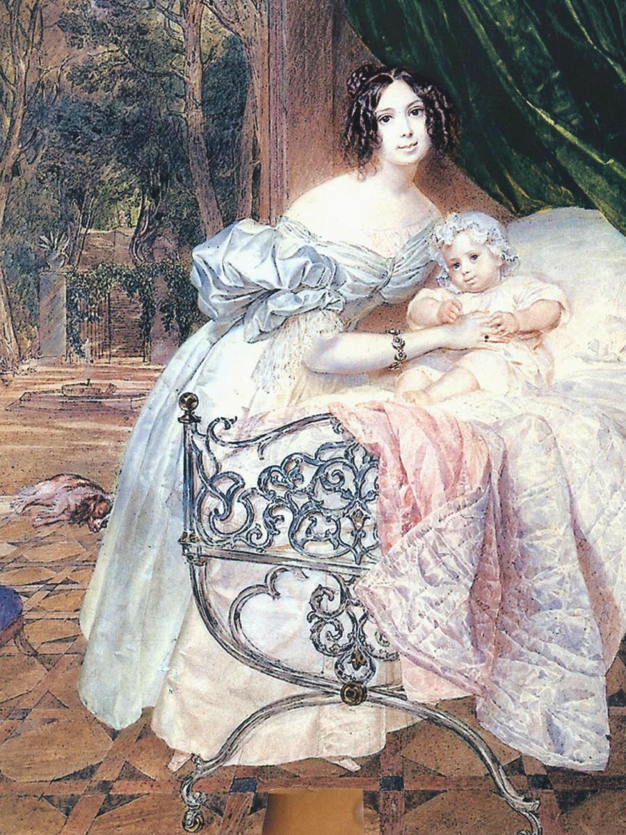 Портрет М. И. Бутеневой с дочерью