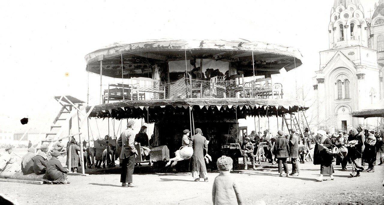 Карусель у Богородице — Рождественского собора. 1900-е