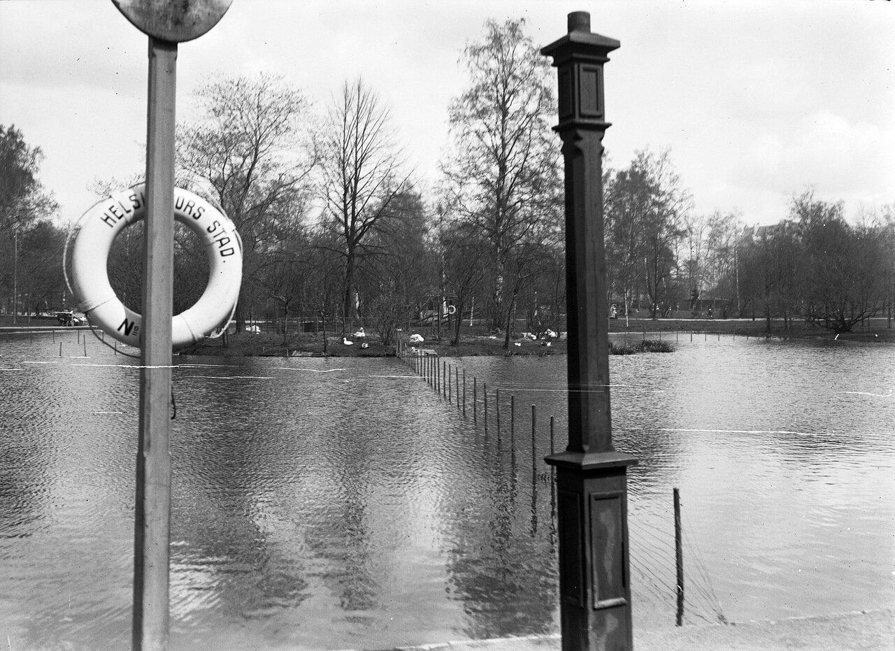 Пруд в парка Кайсаниеми. 1900
