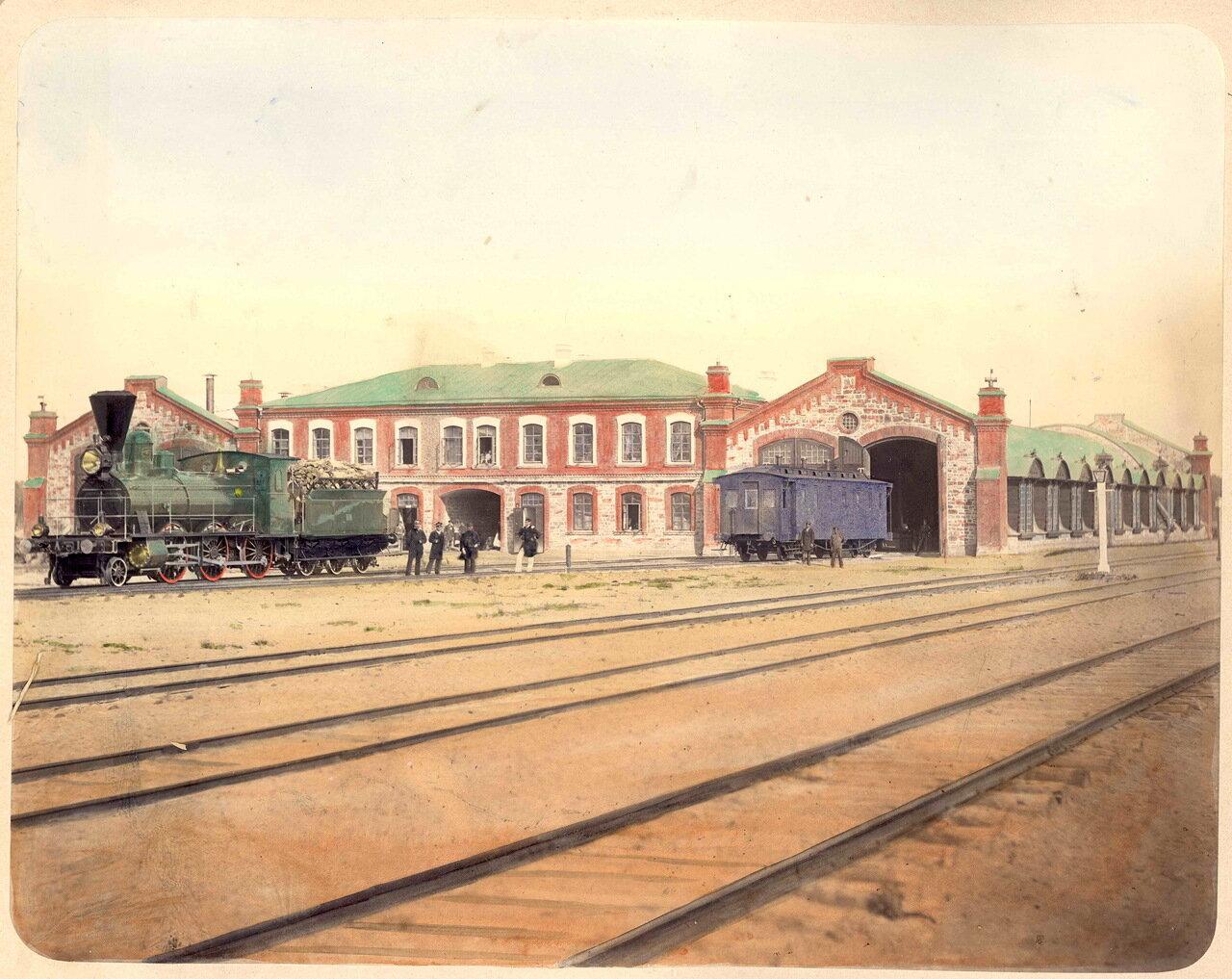 28. Станция Веретьё, локомотивное депо