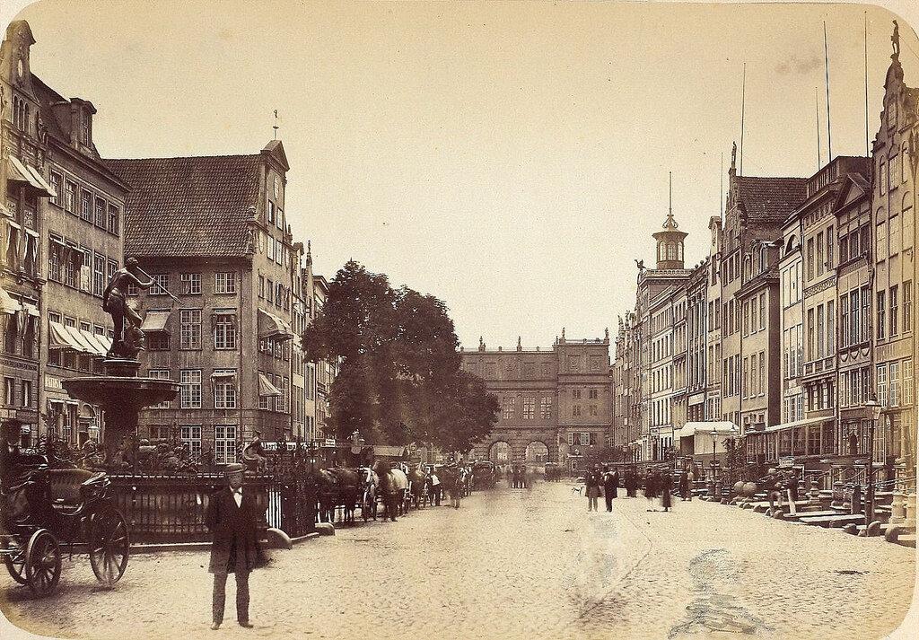 Данциг. Ворота на Длинный рынок. 1865