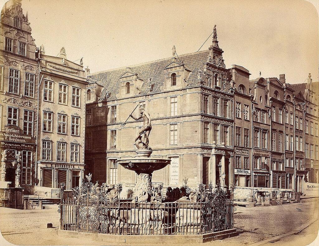 Данциг.  Фонтан Нептуна.1865