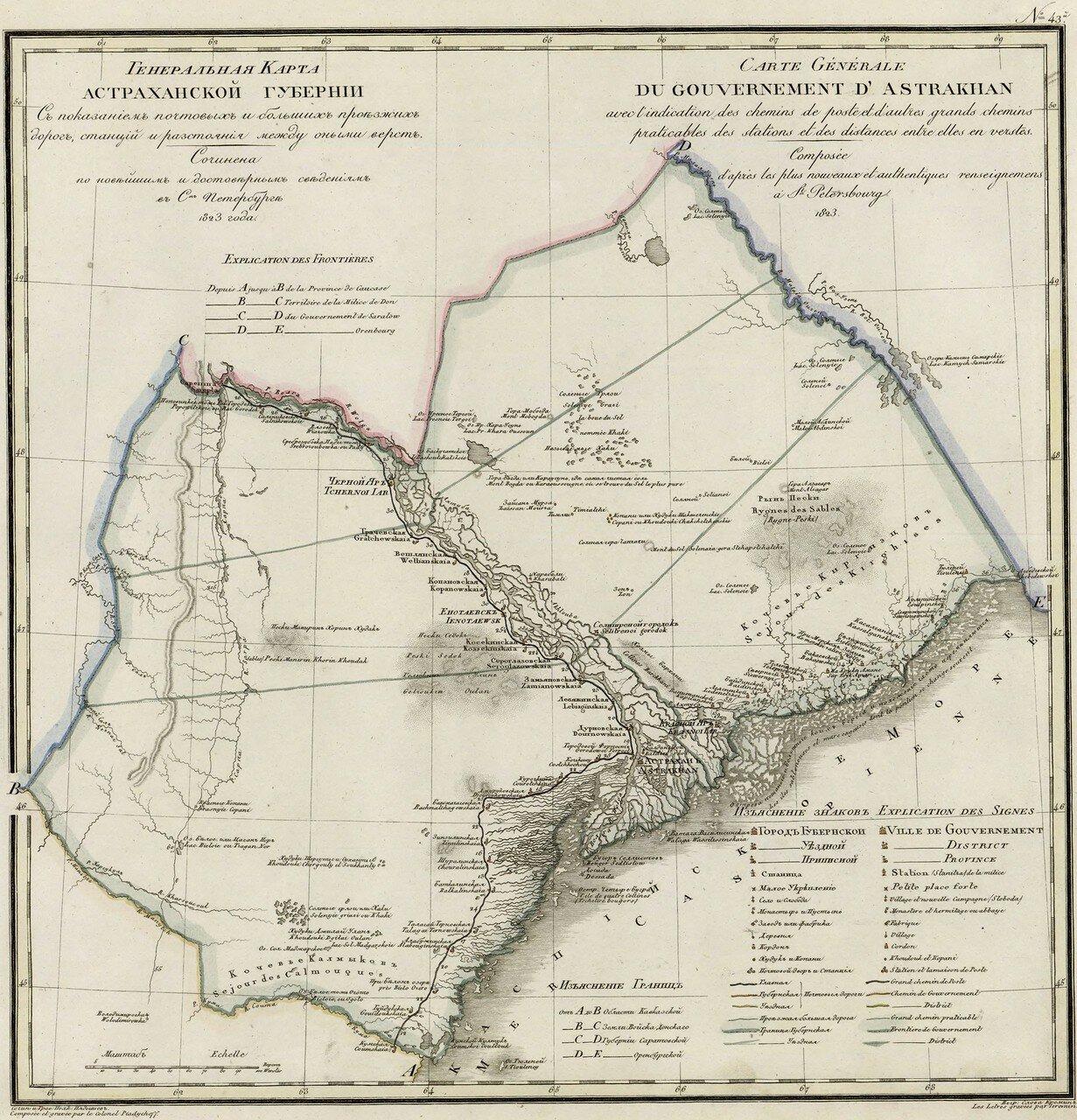 43. Астраханская губерния. 1823