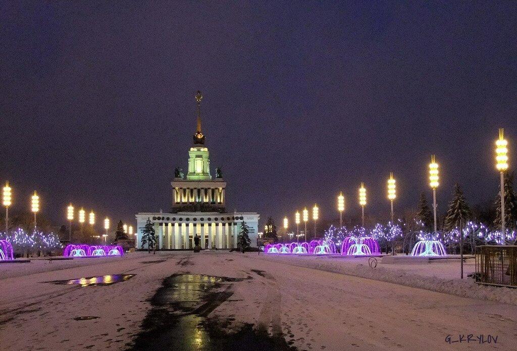 Москва, ВВЦ, зима