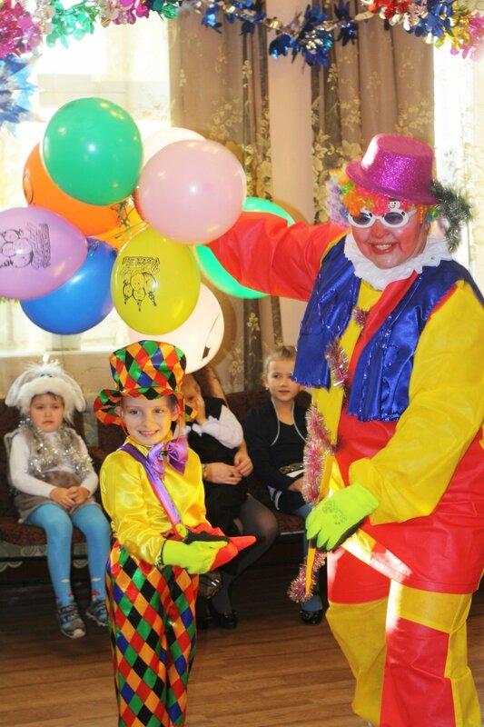 Клоун, новогодние костюмы,
