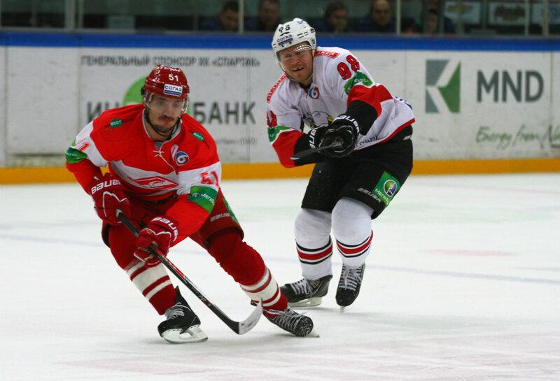 «Спартак» vs «Трактор» 3:5 чемпионат КХЛ 2013-2014 (Фото)