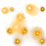 Golden Glowing Stars PNG 1000X1000.png