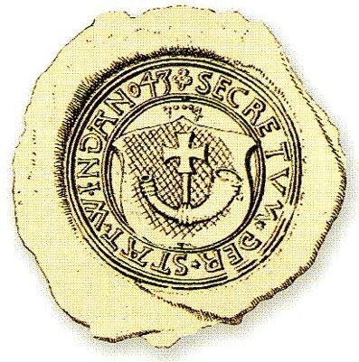Герб Вентспилса в 1643 г.