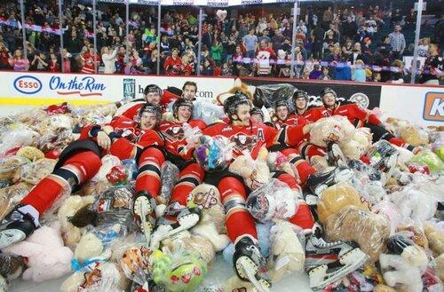 26000 плюшевых медведей за заброшенную шайбу (видео)