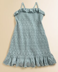 Ажурные ромбы от R.L.Платье и сарафан спицами
