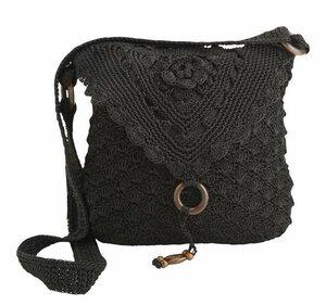 Чёрный жемчуг в лунном свете - сумочка крючком