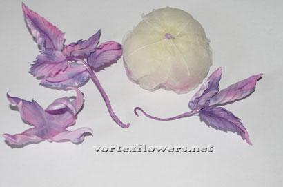 Как сделать английскую розу из ткани