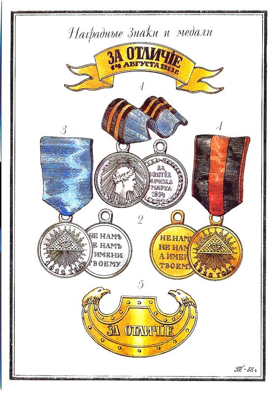 Нагрудные знаки и медали.