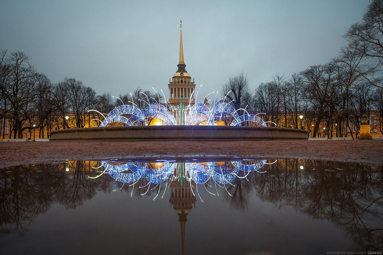 Новогодний фонтан