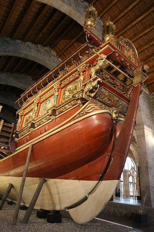 Maritime Museum of Barcelona. Galera Real