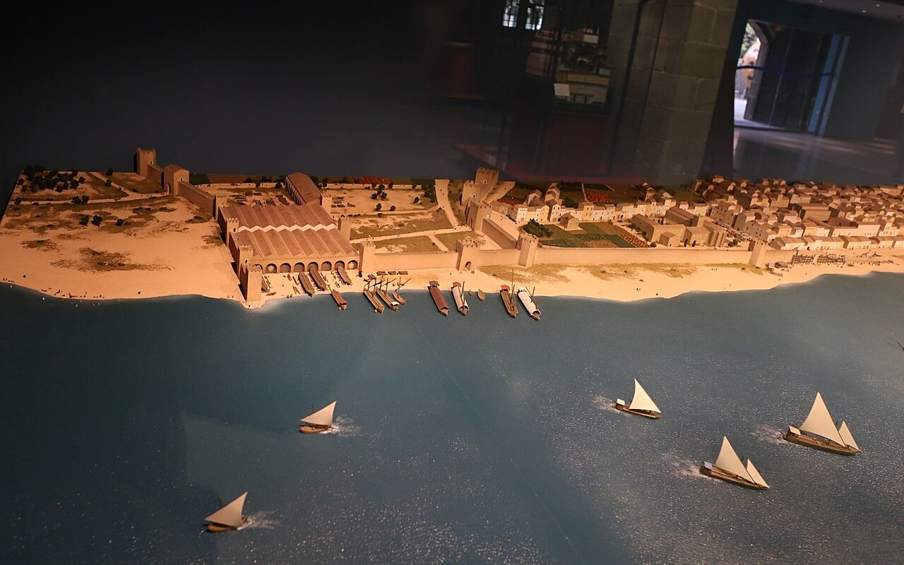 Maritime Museum of Barcelona. The layout of the fortress and port of Barcelona