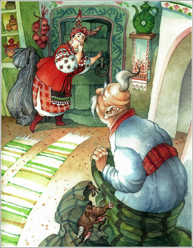 """Гоголевская """"Ночь перед Рождеством&qb50uot;. Иллюстратор Ольга Ионайтис"""