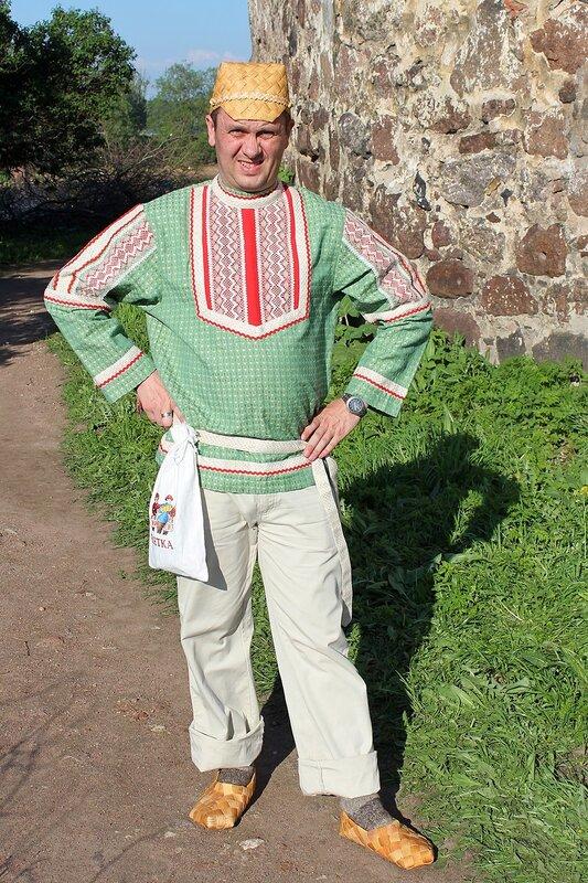Вятский мужик в лаптях - участник фестиваля «Майское дерево 2014»