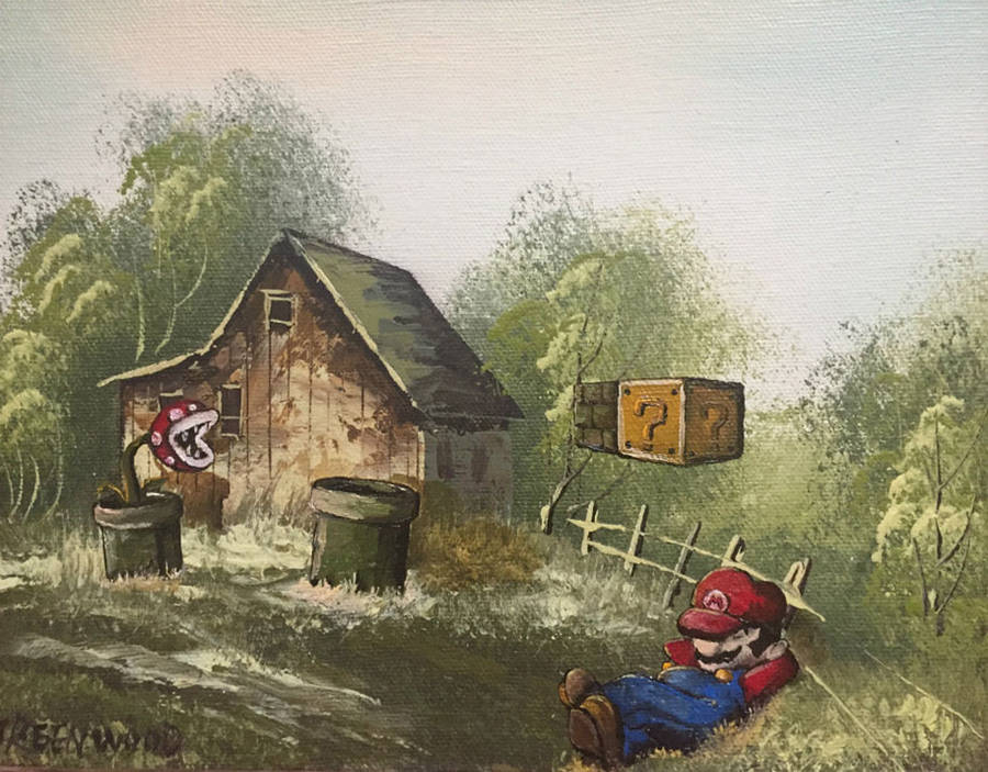Pop Culture Icons added in Thrift Store Paintings