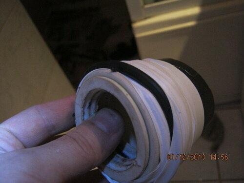Готовлю комбинированный манжет в нестандартное сливное отверстие