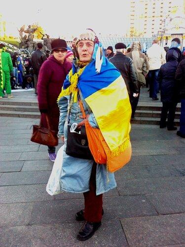 Участница Евромайдана
