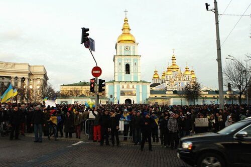 Новый Евромайдан на Михайловской площади