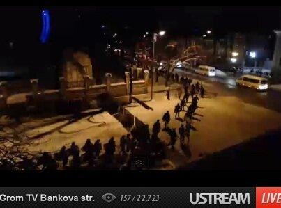 Начало атаки спецназа на Евромайдан