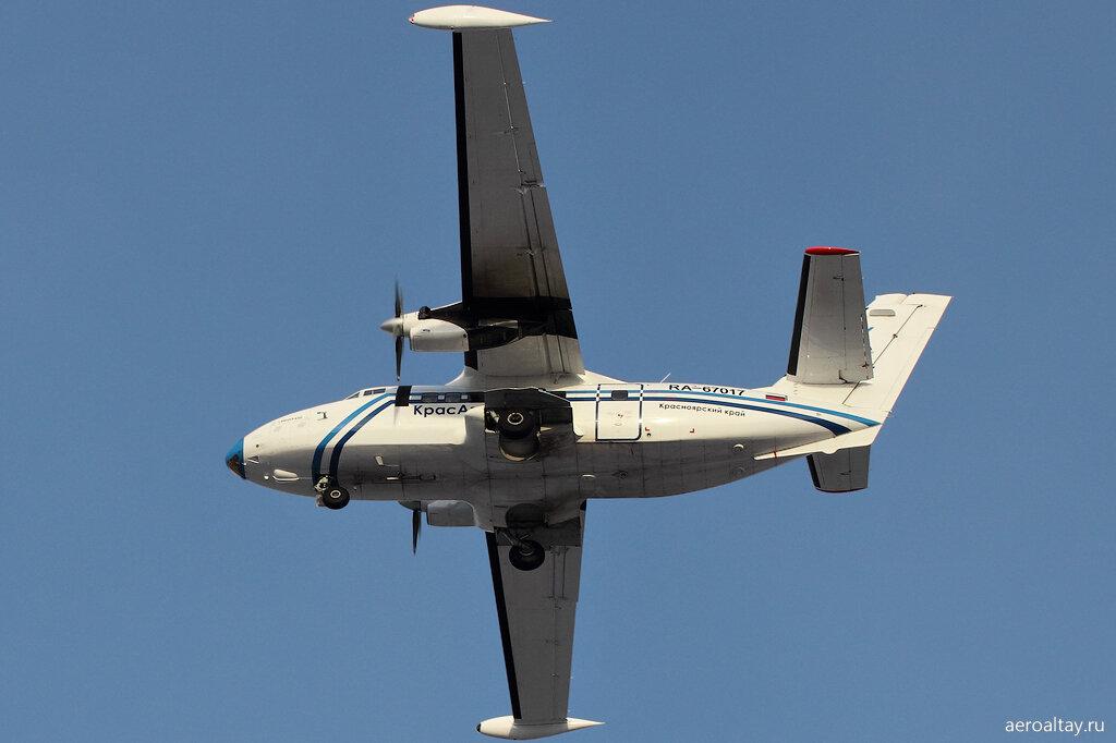 L-410 прилетел из Красноярска в Барнаул