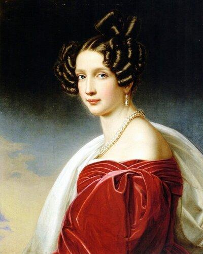 София Фредерика, принцесса Баварская; 1805–1872. В замужестве эрцгерцогиня Австрийская. Портрет 1841 года.