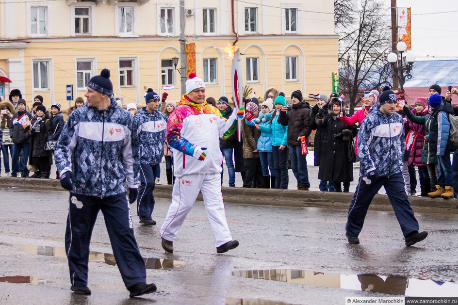 Эстафета Олимпийского огня в Саранске